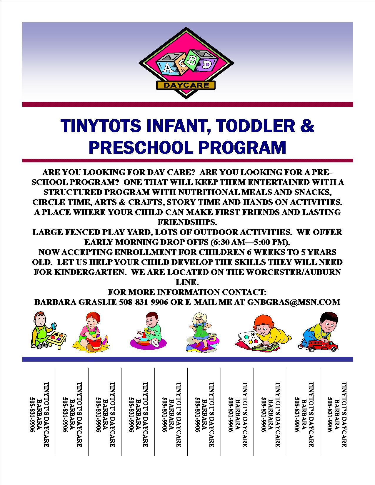 daycare flyers examples sample daycare flier